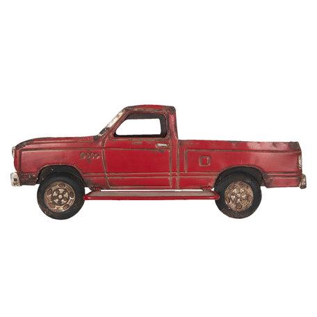 Wanddecoratie vrachtauto 69*27*14 cm Rood | 5Y0516 | Clayre & Eef