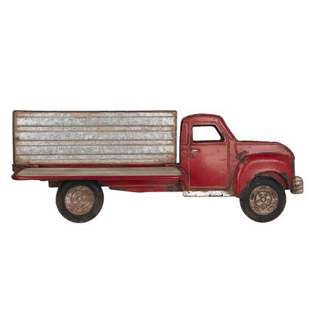 Wanddecoratie vrachtauto 70*27*13 cm Rood | 5Y0519 | Clayre & Eef