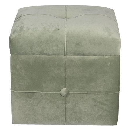 Hocker met opbergvak 30*30*28 cm Groen | 64059GR | Clayre & Eef
