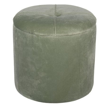 Hocker met opbergvak ø 35*29 cm Groen | 64060GR | Clayre & Eef