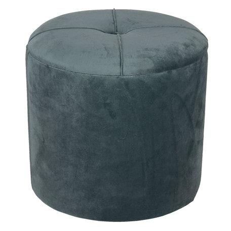 Hocker met opbergvak ø 35*29 cm Groen | 64060T | Clayre & Eef