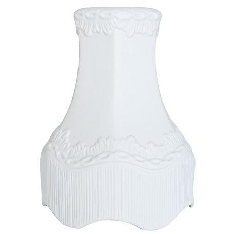 Lampenkap hang ø 16*21 cm Wit | 6LAP0005 | Clayre & Eef
