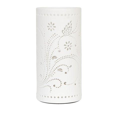 Tafellamp ø 12*25 cm E27/max 1*30W Wit | 6LMP100 | Clayre & Eef