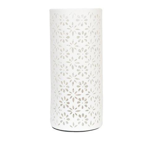 Tafellamp ø 12*28 cm E27/max 1*30W Wit | 6LMP104 | Clayre & Eef
