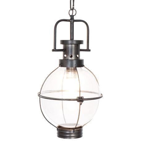 Hanglamp ø 28*50 cm E27/max 1*40W Zwart | 6LMP448 | Clayre & Eef