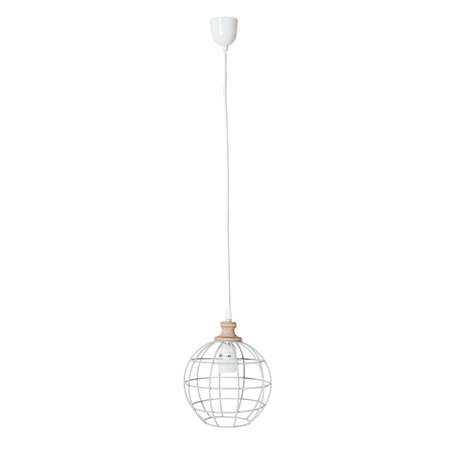 Hanglamp ø 18*22 cm E27/max 1*60W Wit | 6LMP451 | Clayre & Eef