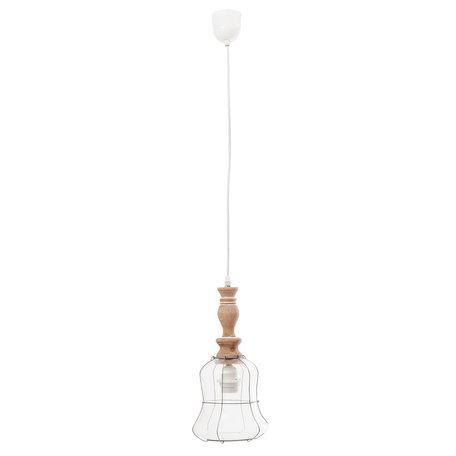 Hanglamp ø 17*37 cm E27/max 1*60W Bruin | 6LMP454 | Clayre & Eef