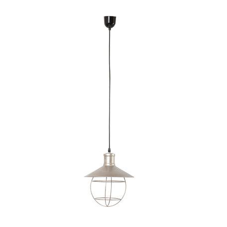Hanglamp ø 27*31 cm E27/max 1*60W Zilverkleurig | 6LMP456 | Clayre & Eef