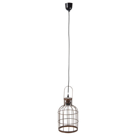 Hanglamp ø 19*43 cm E27/max 1*60W Bruin | 6LMP495 | Clayre & Eef
