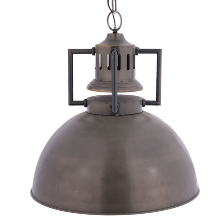 Hanglamp ø 53*57 cmE27/max 1*40W Grijs | 6LMP527 | Clayre & Eef