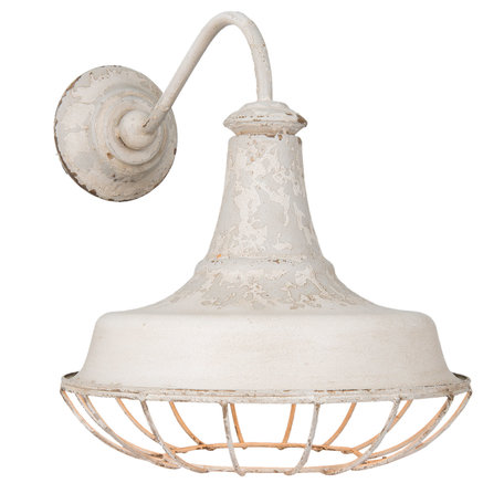 Wandlamp 35*46*39 cm E14/max 1*25W Wit | 6LMP532 | Clayre & Eef