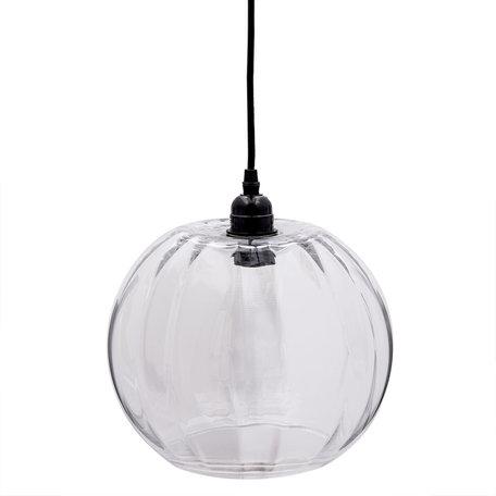 Hanglamp ø 24*24 cm / E27/max 1*40W Transparant | 6LMP533 | Clayre & Eef