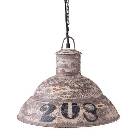 Hanglamp ø 39*31 cm / E27/max 1*25W Grijs | 6LMP556 | Clayre & Eef