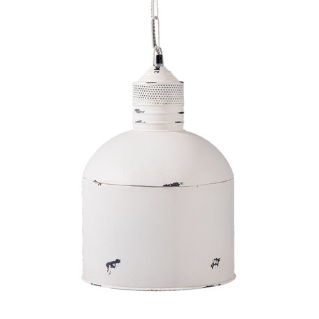 Hanglamp ø 31*46 cm / E27/max 1*25W Wit | 6LMP557M | Clayre & Eef