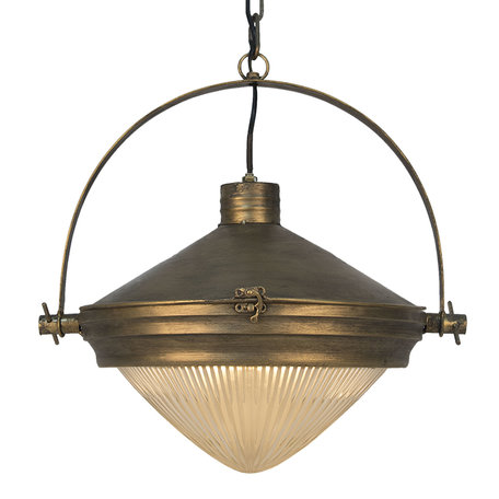 Hanglamp 43*36*151 cm E27/max 1*40W Goudkleurig | 6LMP558 | Clayre & Eef