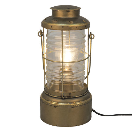Tafellamp 17*16*47 cm E27/max 1*40W Goudkleurig | 6LMP559 | Clayre & Eef
