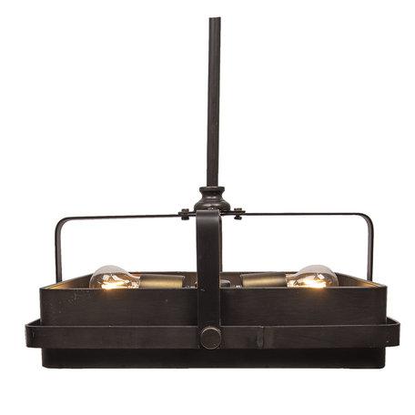 Hanglamp 46*46*22/162 cm E27/max 2*40W Zwart | 6LMP561 | Clayre & Eef