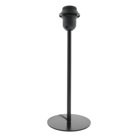Lampenvoet 12*12*31 cm E27/max 1*40W Zwart   6LMP579L   Clayre & Eef