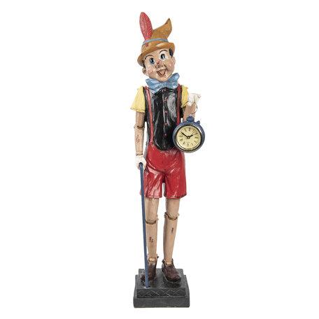 Decoratie figuur Pinokkio 13*12*51 cm Meerkleurig | 6PR2308 | Clayre & Eef