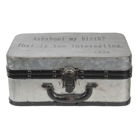 Decoratie koffer 29*20*13 cm Grijs | 6Y2550 | Clayre & Eef