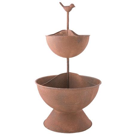 Planthouder / Etagère ø 31*57 cm Bruin | 6Y2582 | Clayre & Eef