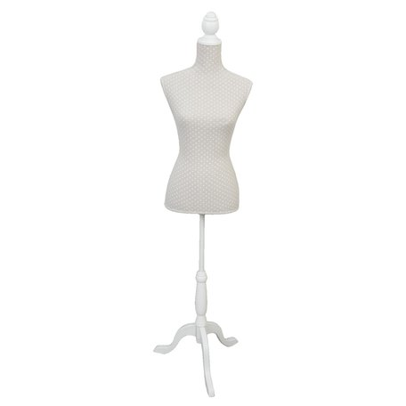 Decoratie paspop 37*22*168 cm Wit | BU0002 | Clayre & Eef