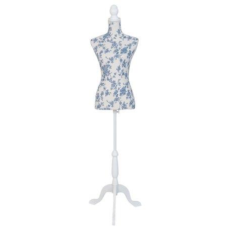 Decoratie paspop 36*38*135 cm Blauw | BU0028 | Clayre & Eef