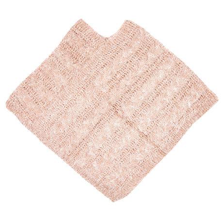 Poncho/omslagdoek 60*65 cm Roze   JZPO0009   Clayre & Eef