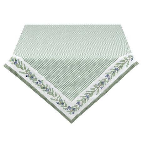 Tafelkleed 150*150 cm Groen | OLG15GR | Clayre & Eef