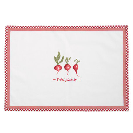 Placemat ( set 6 ) 48*33 cm Rood | PPL40 | Clayre & Eef