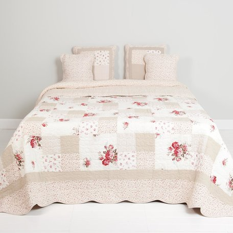 Bedsprei 180*260 cm Rood | Q103.060 | Clayre & Eef