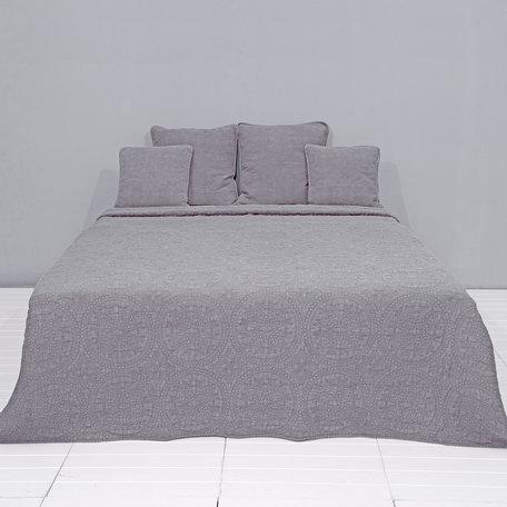 Bedsprei stonewashed 180*260 cm Grijs | Q181.060G | Clayre & Eef