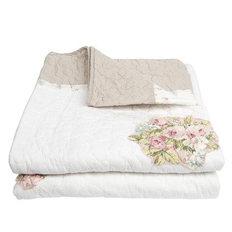 Bedsprei 140*220 cm Creme | Q184.059 | Clayre & Eef