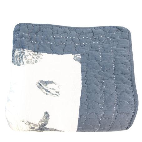 Bedsprei 140*220 cm Blauw | Q185.059 | Clayre & Eef