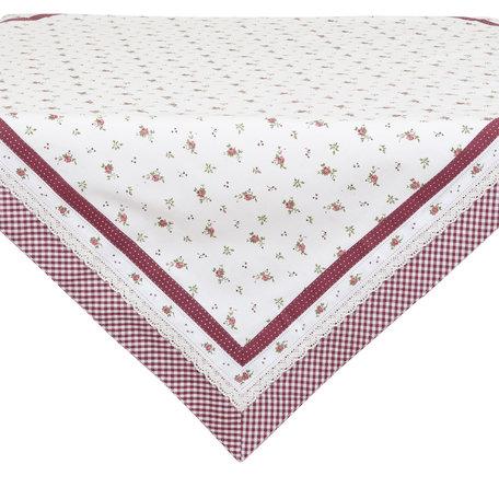 Tafelkleed 150*150 cm Rood | RPL15 | Clayre & Eef