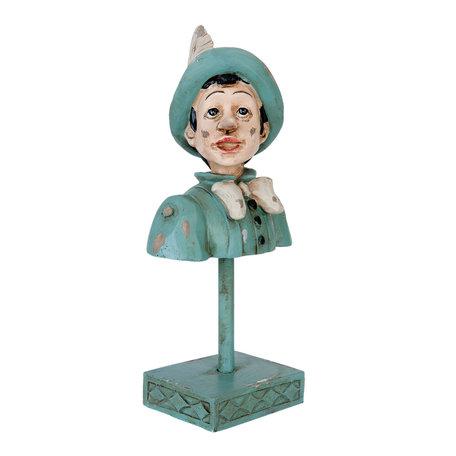 Decoratie figuur Pinokkio 11*8*23 cm Groen | 6PR0913 | Clayre & Eef
