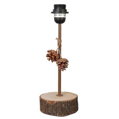 Lampenvoet 13*11*34 cm E27/max 1*60W Bruin | 6LMP127 | Clayre & Eef