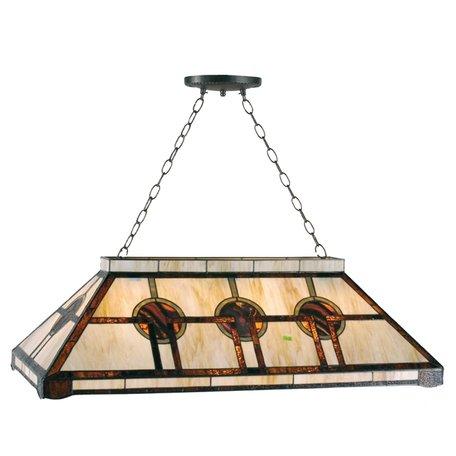Hanglamp pooltafel Tiffany 92*47*126 cm E27/max 3*60W Creme | 5LL-5473 | Clayre & Eef