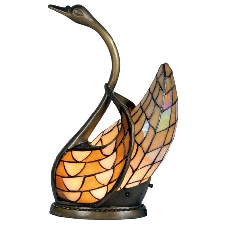 Tafellamp Tiffany 30*20*45 cm E14/max 1*40W Multi | 5LL-9883 | Clayre & Eef
