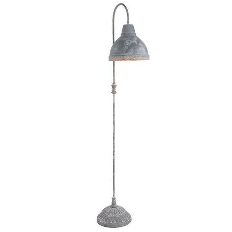 Vloerlamp 26*33*148 cm E27/max 1*60W Grijs | 5LMP238 | Clayre & Eef