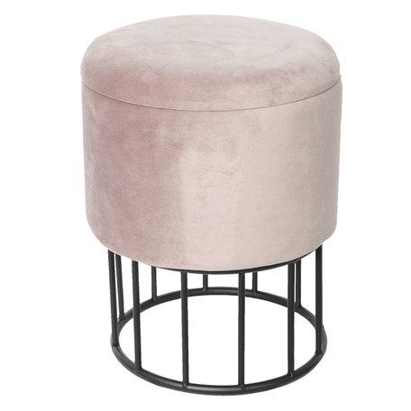 Hocker/Opbergkist ø30*40 cm Roze | 64099P | Clayre & Eef