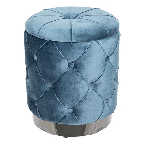 Hocker/Opbergkist ø34*38 cm Blauw | 64101BL | Clayre & Eef