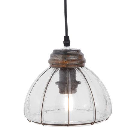 Hanglamp ø 20*17 cm E27/max 1*60W Transparant | 6LMP547 | Clayre & Eef