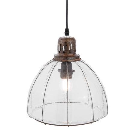 Hanglamp ø 27*27 cm E27/max 1*60W Transparant | 6LMP548 | Clayre & Eef