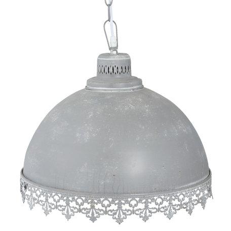 Hanglamp ø 41*39 cm E27/max 1*60W Grijs | 6LMP551DG | Clayre & Eef