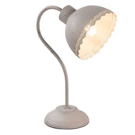 Bureaulamp 15*25*35 cm E27/max 1*60W Grijs | 6LMP553G | Clayre & Eef