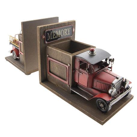 Model vrachtauto/boekensteun/penhouder 38*13*17 cm Multi   BR0004   Clayre & Eef