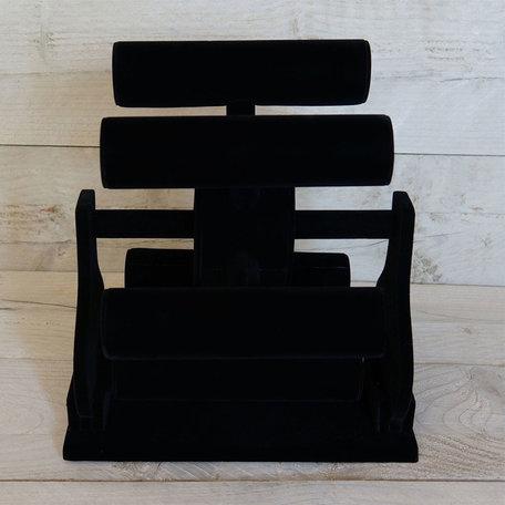Sieraden display 29.5*15*35 cm Zwart | MLDS0024 | Clayre & Eef