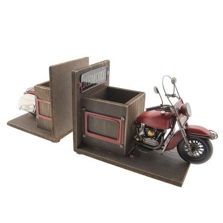 Model motor/boekensteun/penhouder 42*14*18 cm Meerkleurig   MO0023   Clayre & Eef