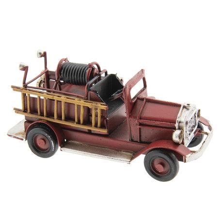 Model brandweerauto 12*4*5 cm Rood | AU0032 | Clayre & Eef